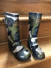 Size 26 Khaki Camo Mini Boden Boys Wellies Wellington Boots 8.5 BRAND NEW