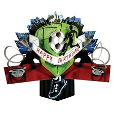 Football Birthday Pop-Up Greeting Card Original Second Nature 3D Pop Up Cards