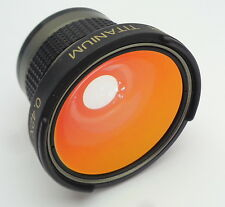 Bower 0.42X IR SUPER WIDE Titanio Serie video lens MADE IN JAPAN CON BOX CASE