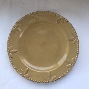 Signature SORRENTO Debby Segura Designs - WHEAT (GOLD) Dinner Plate
