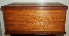 Small Vintage Handmade Silky Oak Trunk