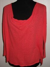 Anthropologie Guinevere Women's S Coral Pointello Knit Top