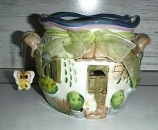 New Home Interior & Gifts Homco Ceramic Candle Holder House Cottage w/ Butterfly