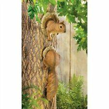 2 Pc Squirrel Tree Head And Tail Illusion Peeking Garden Statue Yard Art Decor