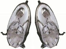 For Nissan Micra K12 2003-2007 Chrome Front Headlight Headlamp Pair Left & Right