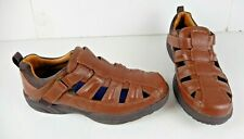 Mens DR COMFORT Fisherman Brown Leather Size 10 1/2 W Sandals Style 9820