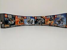 Lego ® 75125 - 75130 Star Wars Microfighter konvolut 6 Stk Serie 3 komplett