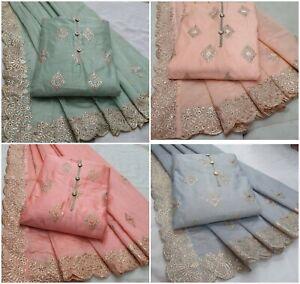 Salwar Kameez Designer Indian Pakistani Ethnic Bollywod Shalwar Suit Party Dress