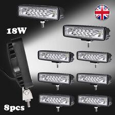 8X 18W LED Work Light Bar Flood Spot Lights Driving Lamp Offroad Car Truck SUV