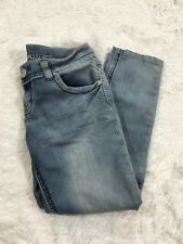 Almost Famous Juniors Jeans Size 11 Cropped Denim Jeans Stretch Light Wash