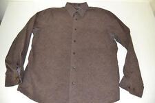 EXPRESS 1MX PAISLEY BROWN DRESS SHIRT MENS SIZE XL