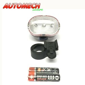 GENUINE ETC Cycle, Bike Super Bright 3 LED Front Light, inc Battery's & Clamps