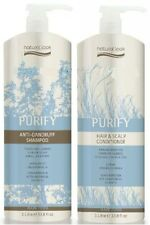 Natural Look Purify Anti Dandruff Shampoo & Scalp Conditioner 1L Duo with Pumps