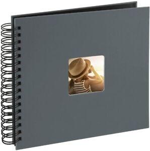 Hama Fine Art Photo Album | 28 x 24cm 50 Grey w/Black Pages (4 Album package)