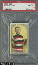 1911 C55 Hockey #10 Albert Kerr PSA 6 EX-MT