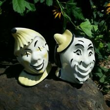 New ListingVintage Harlequin/Clown head planters (set of two)