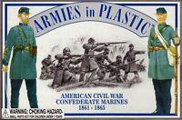 ARMIES IN PLASTIC 5460 Civil War Confederate Marines 1861-65 20 Plastic Figures