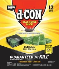 D-Con  Rat / Mouse Killer box of 12 refills and 1 Bait station