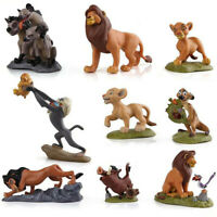 9pcs The Lion King Figures Collection Movie Simba Toy Doll Cake Topper Kids Gift