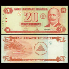 Nicaragua 20 Cordobas, 2006, P-197, UNC, Banknotes, Original