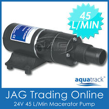 24V AQUATRACK MACERATOR WATER WASTE TOILET SEWERAGE PUMP -Marine/Boat/Caravan/RV