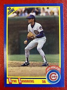 Ryne Sandberg 1990 Score #561 Cubs RARE ERROR (Position on front listed as 3B)