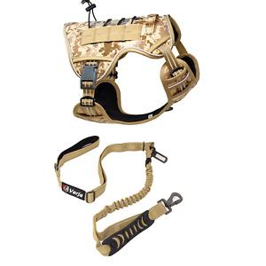 Verja Tactical Dog Harness No-Pull Adjustable Reflective K9 Vest & Leash Set
