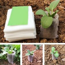 Non-woven Degradable Nursery Bag Seedling-raising Pot Gardening Supply*100 GO9