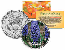 HYACINTH FLOWER JFK Kennedy Half Dollar US Colorized Coin