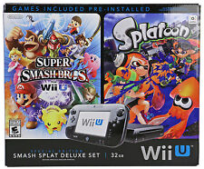 Nintendo Wii U Console With Super Smash Bros Splatoon and Bundle Deluxe Set R
