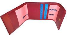 Porte chéquier pliant en cuir réf F3509 (3 couleurs disponible)
