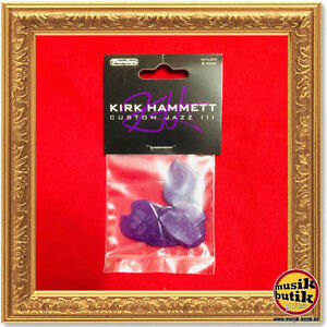 Dunlop Kirk Hammett Signature Jazz III Picks, 6 pcs., purple sparkle
