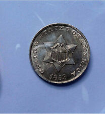 1853 Three Cent Silver unc details