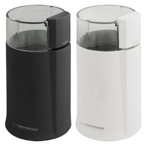Kaffeemühle Coffee Grinder 160W Edelstahlmesser robust schwarz weiß kompakt neu