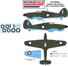 RAAF Hurricane Mk1 Trop WWII Decals Mini-Set 1/72 Scale N72060a