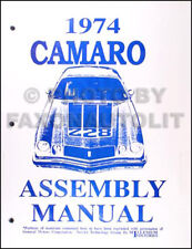 1974 Camaro Factory Assembly Manual 74 LT Chevy Chevrolet Exploded View of Parts