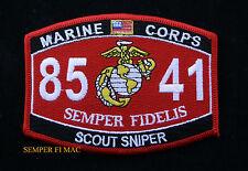 MOS 8541 SCOUT SNIPER US MARINES PATCH STA SASR SSP M16A2 M82A1 VIETNAM 8541