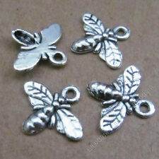 30pc Tibetan Silver Cute Bee Insect Pendant Charms Jewellery Accessories PJ558