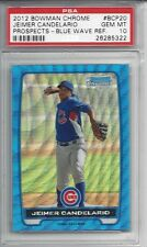 pop 2 - 2012 Bowman Chrome BLUE Wave REF #BCP20 Jeimer CANDELARIO - PSA 10+++ RC