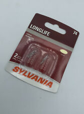 Sylvania 74 LongLife Mini Bulb, Pack of 2