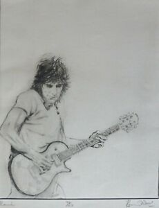 """Ronnie WOOD """"Ronnie"""" HAND SIGNED from ROLLING STONES Suite I 1988"""