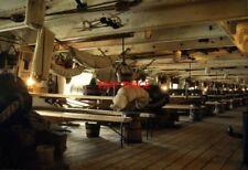 PHOTO  1992 GOSPORT GUN DECK HMS WARRIOR AN EXCELLENT RECONSTRUCTION BUT LACKING