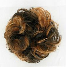 chouchou chignon cheveux chocolat méché cuivré clair ref: 17 en 627c