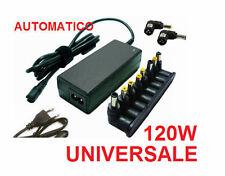 Alimentatore universale AUTOMATICO.Da 15V a 24V, 6A.Caricabatterie 120W notebook