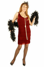 FLAPPER IN RED HALLOWEEN COSTUME ADULT SIZE X-SMALL 3-5