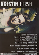KRISTIN HERSH 2007 AUSTRALIAN CONCERT TOUR POSTER - Alternative Rock, Folk Music
