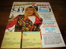 DOROTHEE - Publicité de magazine CONCERTS JANVIER 93 !!!!!!!!!!!!!!