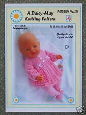 1 DOLLS KNITTING PATTERN for BABYBORN BY DAISY-MAY No 261