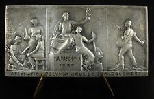 Médaille asso polymathique Bois-Colombes à M A Hardouin 1937 93 mm Rasumny medal
