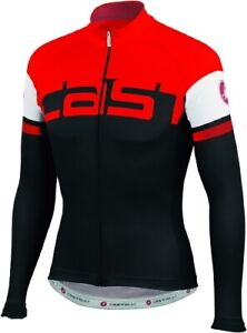 Castelli Unavolta Men's Wool Blend Long Sleeve Cycling Jersey Black/Red Large